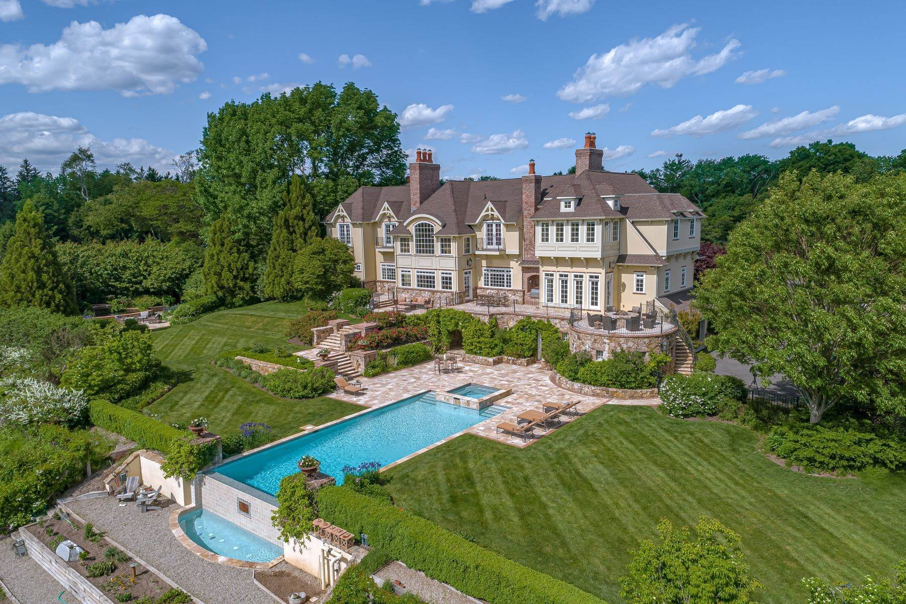 Single Family Homes for Sale at European Inspiration Balanced With American Elegance 23 Corey Lane Mendham, New Jersey 07945 United States