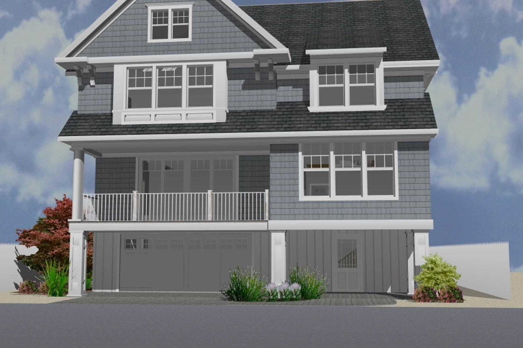 Single Family Homes for Sale at Unique Opportunity To Be Part Of A Brand New Private Beach Association 8 Cummins Street Mantoloking, New Jersey 08738 United States