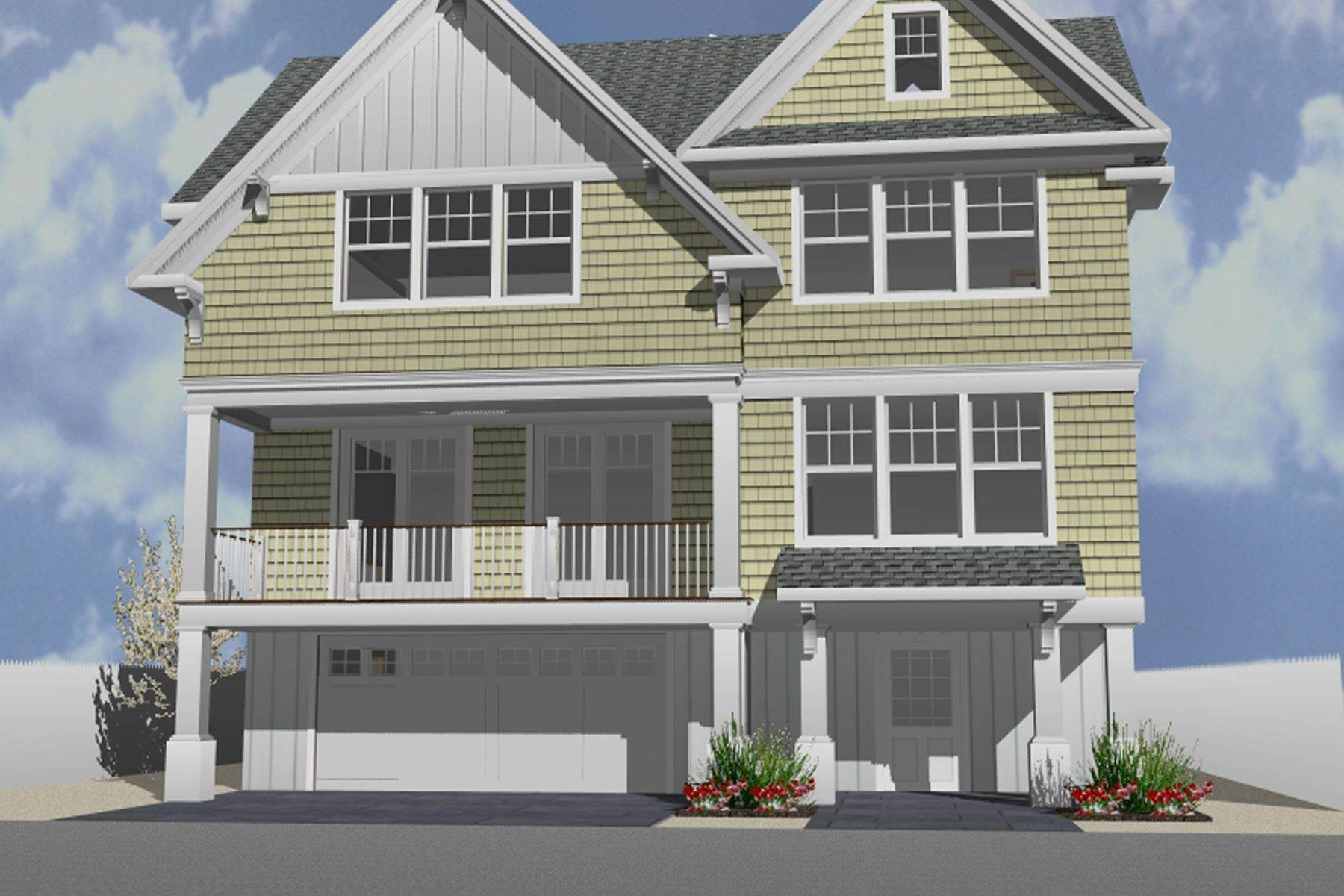 Single Family Homes for Sale at Unique Opportunity To Be Part Of A Brand New Private Beach Association 6 Cummins Street Mantoloking, New Jersey 08738 United States