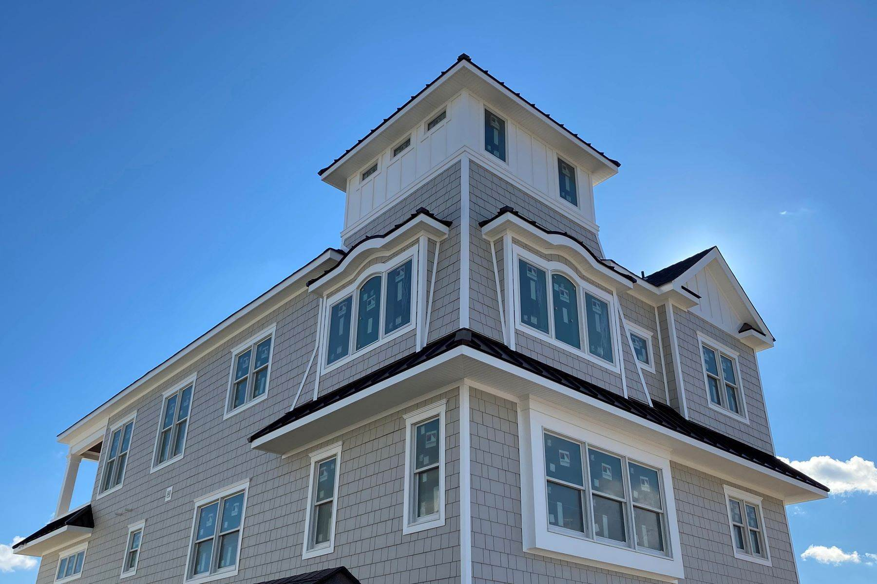 Single Family Homes for Sale at New Construction Spectacularly Designed Oceanfront Home 3574 Ocean Terrace Normandy Beach, New Jersey 08739 United States