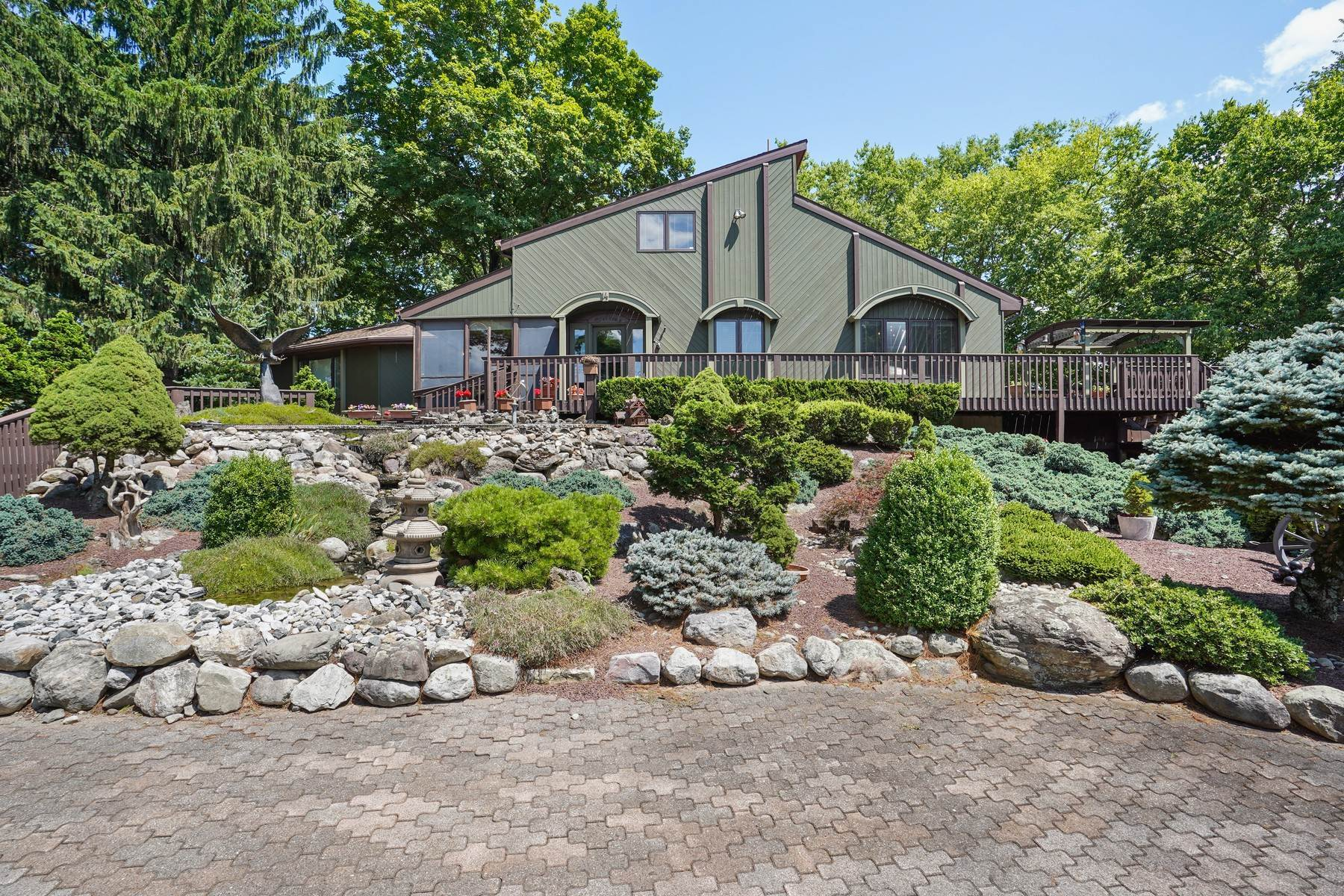Single Family Homes for Sale at Beautiful Custom Home Surrounded by Nature 14 Noe Road Blairstown, New Jersey 07825 United States