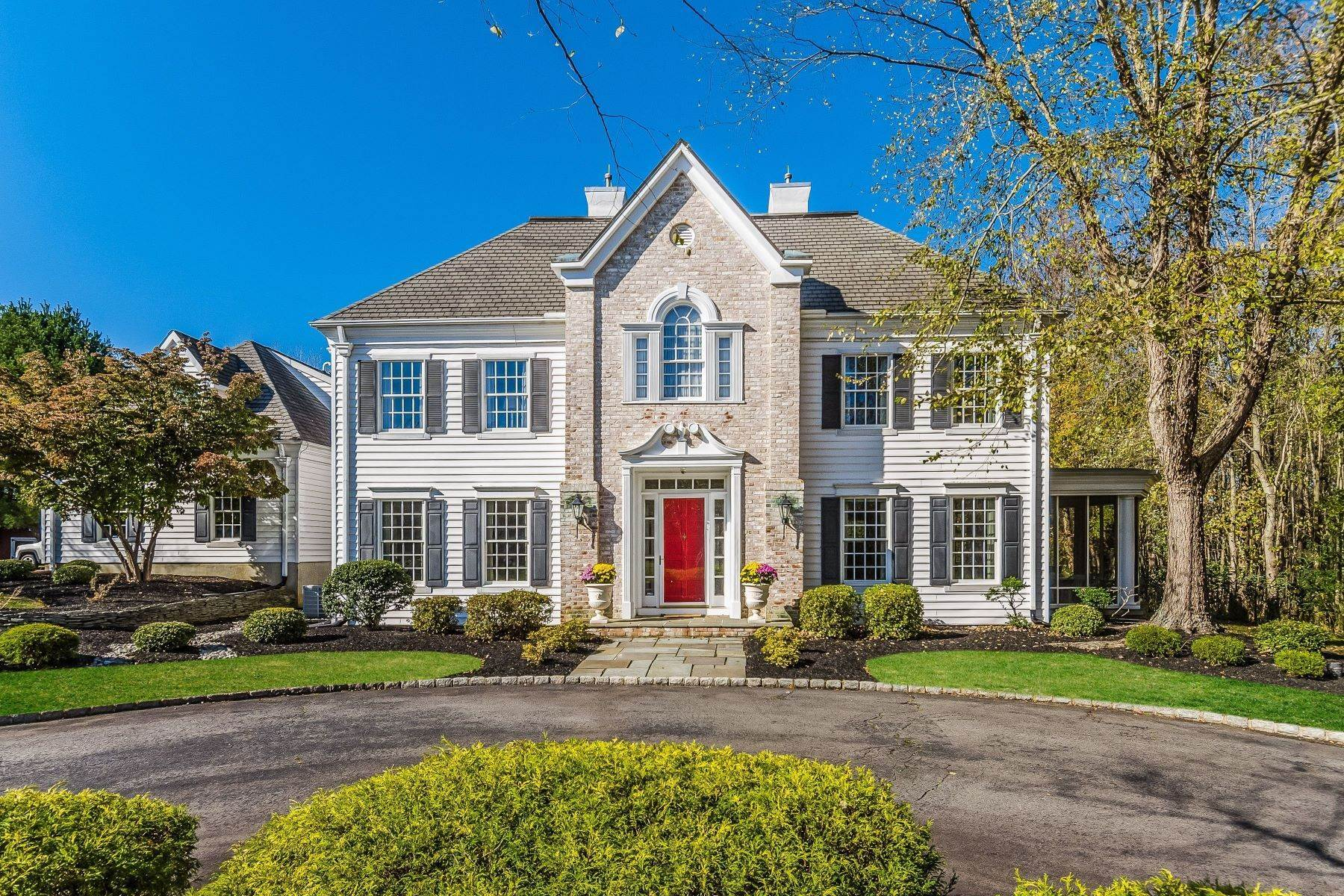 Single Family Homes for Sale at In Hamilton: Wooded, Grand, and Gracious 4 Hidden Hollow Drive Hamilton, New Jersey 08620 United States